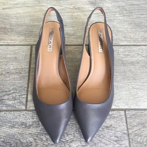NWOB Tahari Gray Slingback Pointed Pumps Sz 7